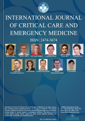 International Journal of Critical Care and Emergency Medicine is an open  access, peer reviewed journal publishing articles on emergency medicine and  the ...