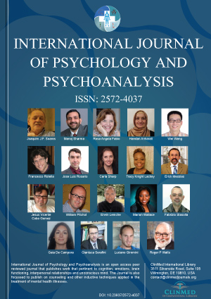 International Journal Of Psychology And Psychoanalysis Clinmed
